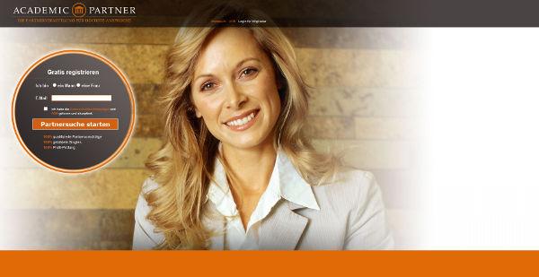 AcademicPartner Homepage Sceenshot