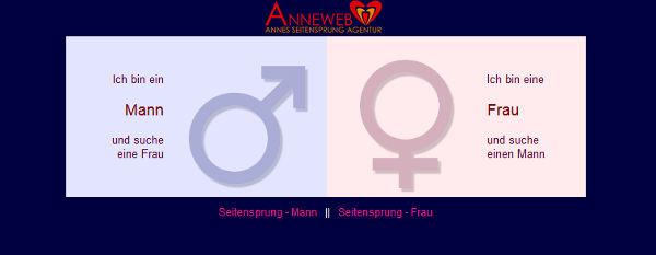 Anneweb Homepage Sceenshot