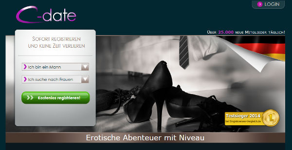 C-date Homepage Sceenshot
