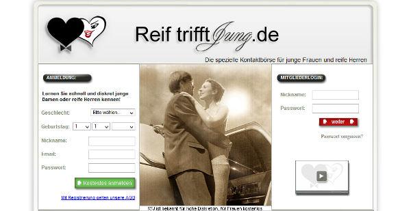ReiftrifftJung Homepage Sceenshot