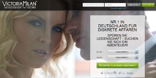 VictoriaMilan Homepage Sceenshot