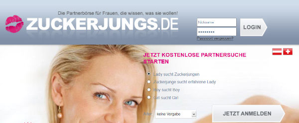 Zuckerjungs.de Homepage Sceenshot