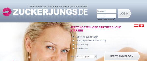 Zuckerjungs.de Homepage Sceenshot