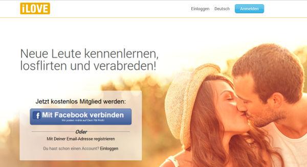 iLove Homepage Sceenshot