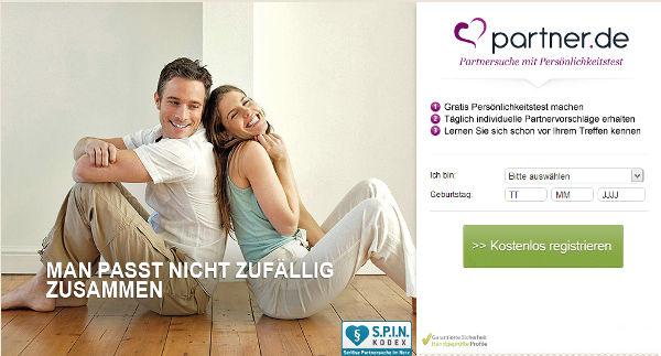 partner.de Homepage Sceenshot