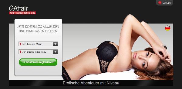 C-Affair Homepage Sceenshot