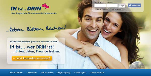 IN-ist-DRIN Homepage Sceenshot