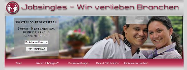 Jobsingles Homepage Sceenshot