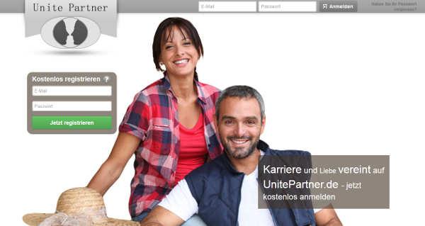 UnitePartner Homepage Sceenshot