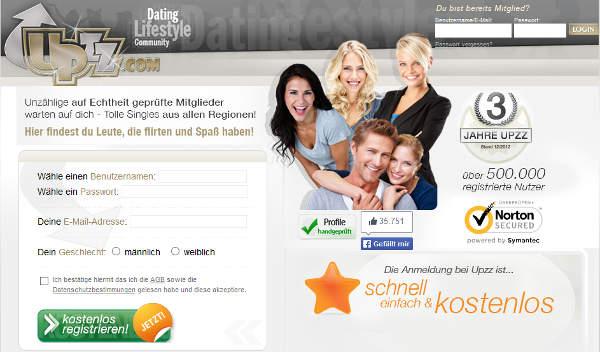 upzz.com Homepage Sceenshot