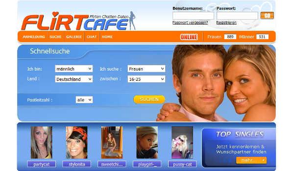 FirtCafe.de Homepage Sceenshot