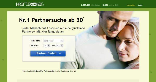 Heartbooker Homepage Sceenshot