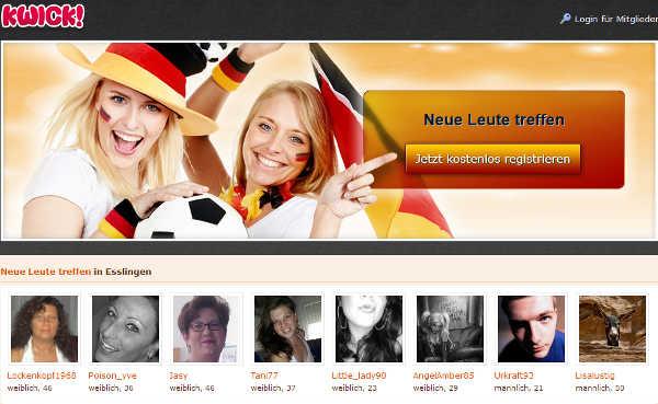 KWICK! Homepage Sceenshot
