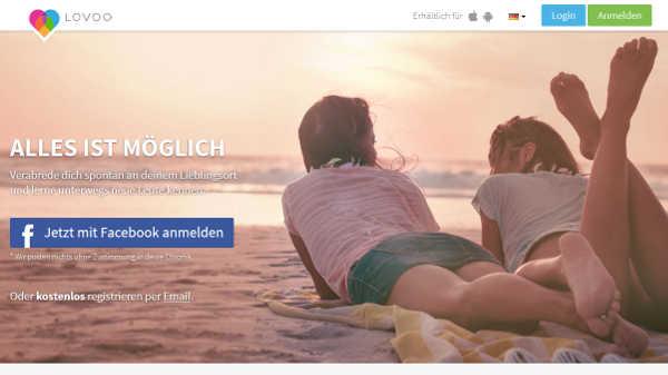 Lovoo Homepage Sceenshot