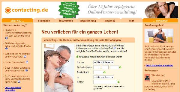 contacting.de Homepage Sceenshot