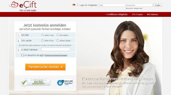 eCift Homepage Sceenshot