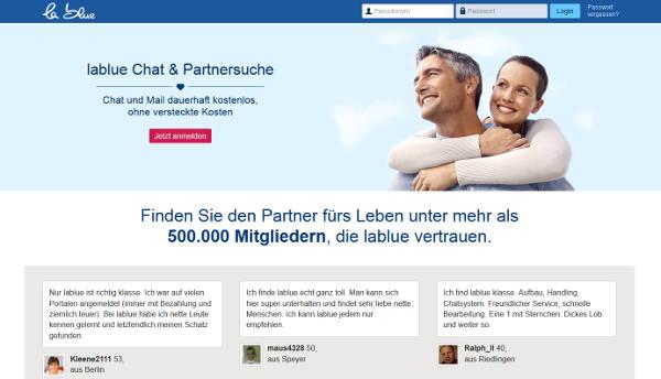 lablue Homepage Sceenshot