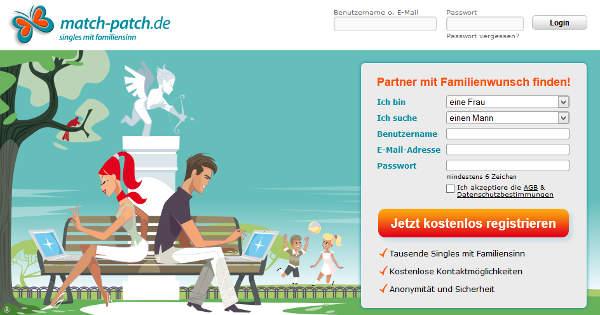match-patch.de Homepage Sceenshot