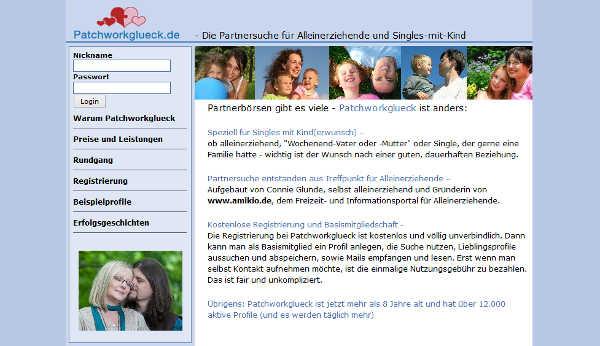 patchworkglueck Homepage Sceenshot