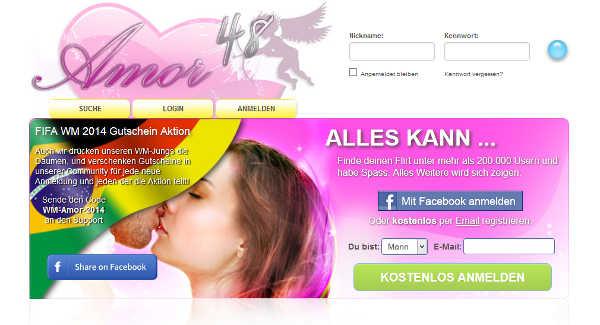 Amor48 Homepage Sceenshot