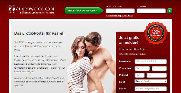 Augenweide.com Homepage Sceenshot