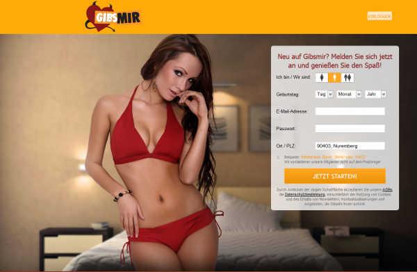 GibsMir Homepage Sceenshot