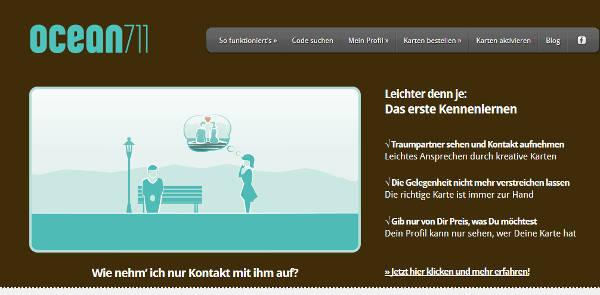 Ocean711 Homepage Sceenshot