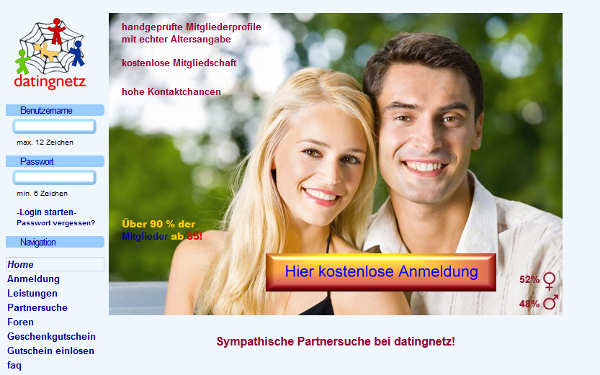 datingnetz Homepage Sceenshot