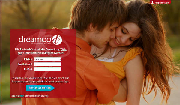 dreamoo Homepage Sceenshot